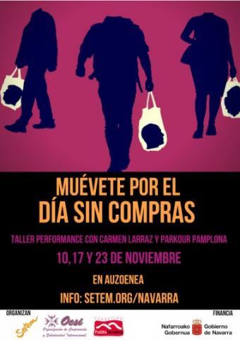 MUÉVETE POR EL DÍA SIN COMPRAS. Taller performance con Carmen Larraz y Parkour Pamplona
