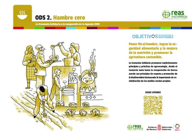 ODS2 – Poner fin al hambre, lograr la seguridad alimentaria y la mejora de la nutrición y promover la agricultura sostenible.