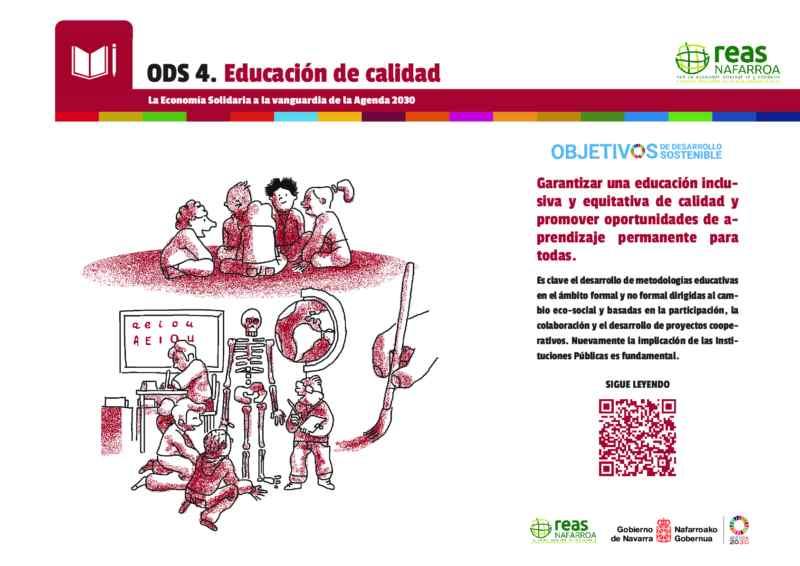ODS4 – Garantizar una educación inclusiva y equitativa de calidad y promover oportunidades de aprendizaje permanente para todas.