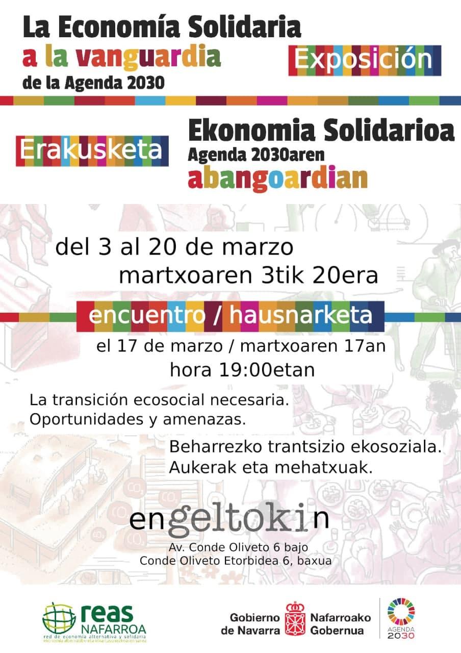 Ekonomia Solidarioaren eta Garapen Jasangarriko Helburuen erakusketa eta hausnarketa